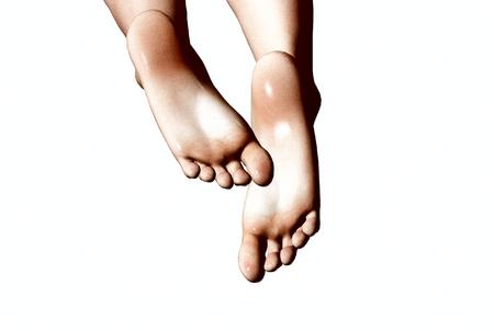 3D render of a Womans feet Фото со стока