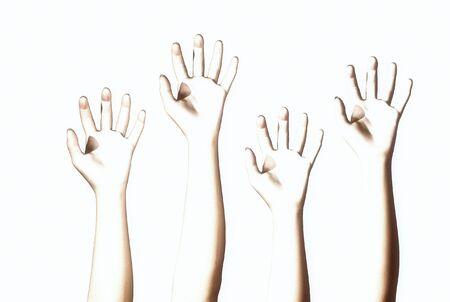 3D render of hands