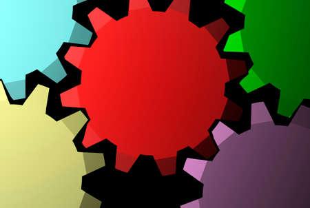 3D render of gears