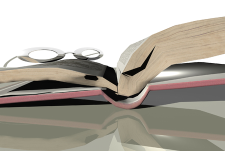 3D render  of books Stock Photo - 1716208