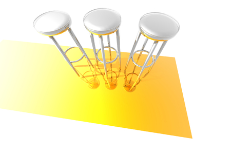 3D render of bar stools photo
