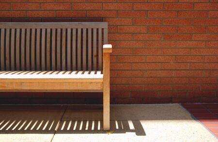 bench and bricks Reklamní fotografie