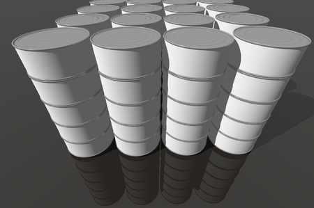 3D render of food cans photo