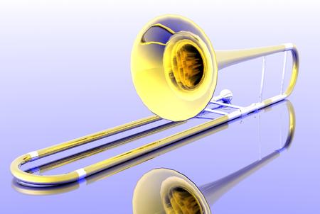 3D-Render-Trompete  Standard-Bild - 1716210