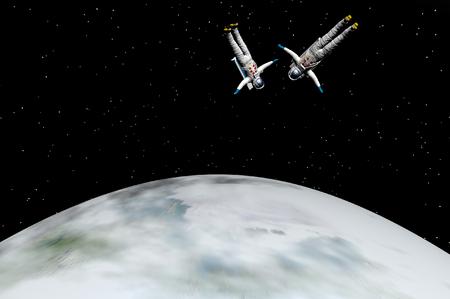 3D render of astronaut Archivio Fotografico