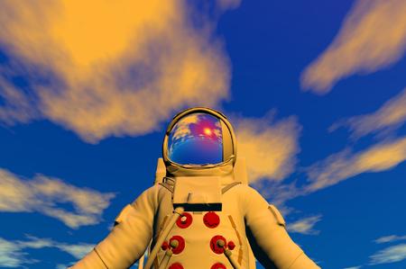 3D render of astronaut Stock Photo - 1716247