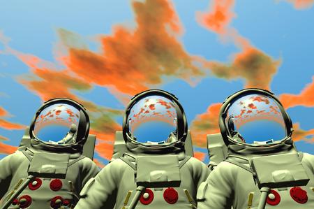 3D render of astronaut Stock Photo - 1716255