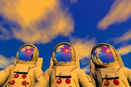 3D render of astronaut Stock Photo - 1716252