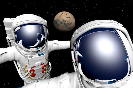 3D render of astronaut Stock Photo - 1716238