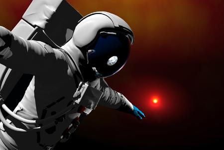 3D render of astronauts