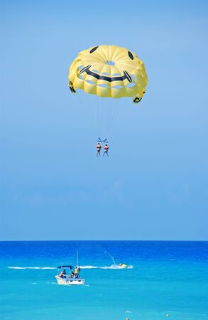 parasailing in cancun photo