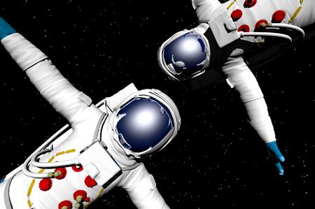 3D render of astronaut Banco de Imagens