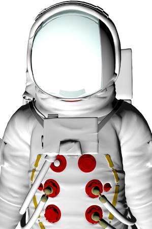 3D render of astronaut photo