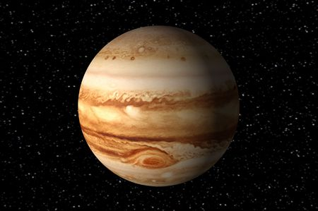 3d render of jupiter photo