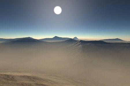 travler: 3d render of the desert