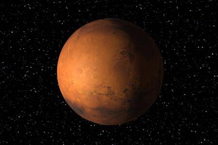화성의 3d 렌더링