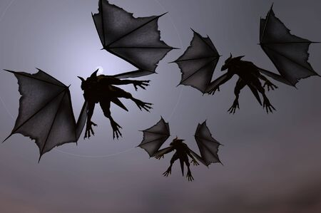 3D render of Dragons Stock Photo - 2136075
