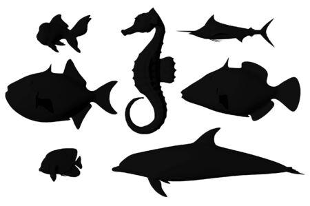 sealife: 3D-Darstellung von Sealife Lizenzfreie Bilder