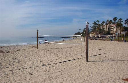 People at the beach in Laguna Beach, CA