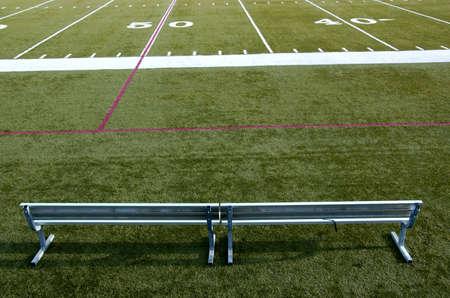 yardline: football stadium Stock Photo