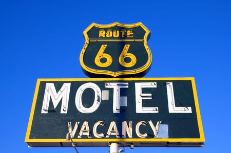 rout: historic rout 66 motel Stock Photo