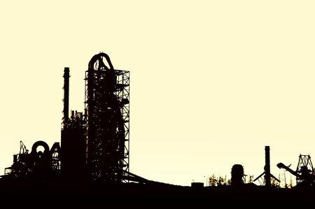 factory at sunrise