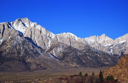 Mount Whitney and lone pine peak california usa