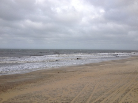 stormed: The waves coming in before a storm off of Janets peer in North Carolina it stormed the whole week we where down there  Stock Photo