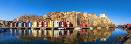 Swedish old Harbour Stock Photo