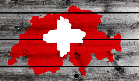 Swiss Cross on wood
