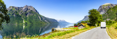 Road at a fjord