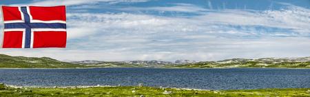 Hardanger landscape in Norway Banco de Imagens