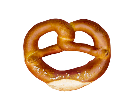 Pretzel isolated on a white background 스톡 콘텐츠