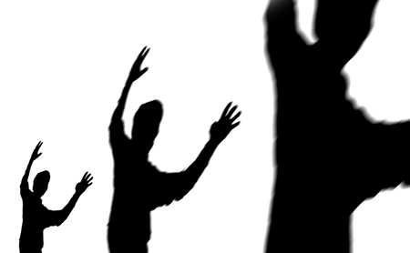shadow sides of a human person Stock Photo