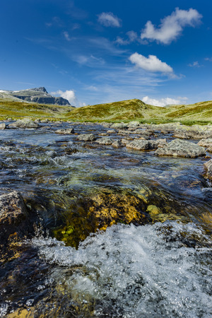 River in Norway with fresh spring water Banco de Imagens