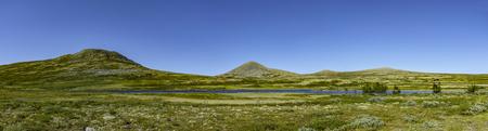 Fjell landscape in Rondane national park Banco de Imagens