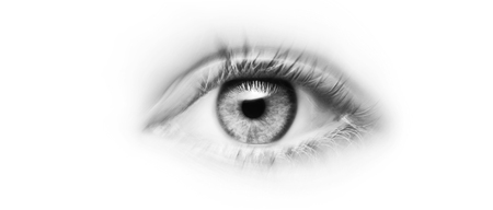 Eye with grey iris and bukeh-effect Banque d'images - 124840076