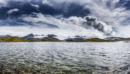 Landscape in the Jotunheimen National Park in Norway 免版税图像