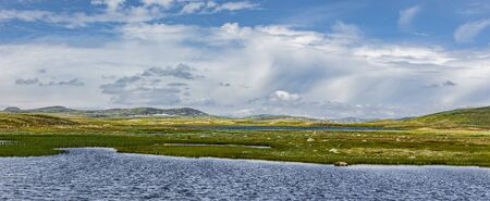 Lake in Hardangervidda in norway Scandinavia 免版税图像