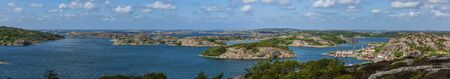 Panoramic image of the landscape at Fj?llbacka in Sweden 写真素材