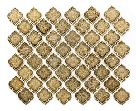 Retro Arabesque floor tile element in beige color