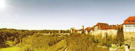 Panorama of Rothenburg ob der Tauber in Germany