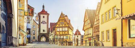 Cityscape in Rothenburg ob der Tauber Germany Bavaria