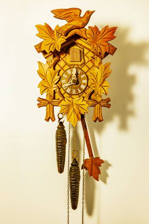 Cuckoo Clock in front of white background isolated