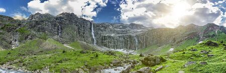 Waterfall at Cirque de Gavarnie, French Pyrenees
