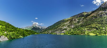 Lanuza lake and village, Spanish Pyrenees, Aragon