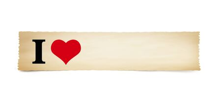 """""""I love"""" on old parchment paper"""