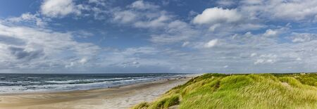 Sandy beach and dune landscape from Vejers Strand, Denmark