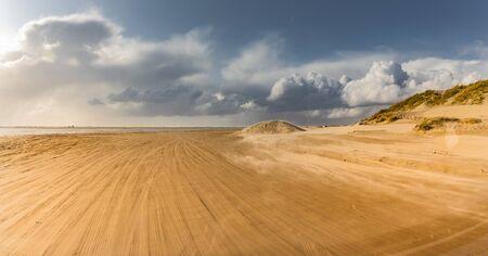 Access to the sandy beach on the island of Rømø