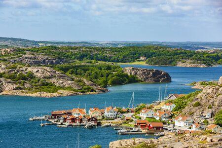 Town view of Fjällbacka, Västergötland, Sweden
